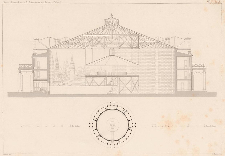 Coupe Rotonde des Panoramas - Hittorff - 1842