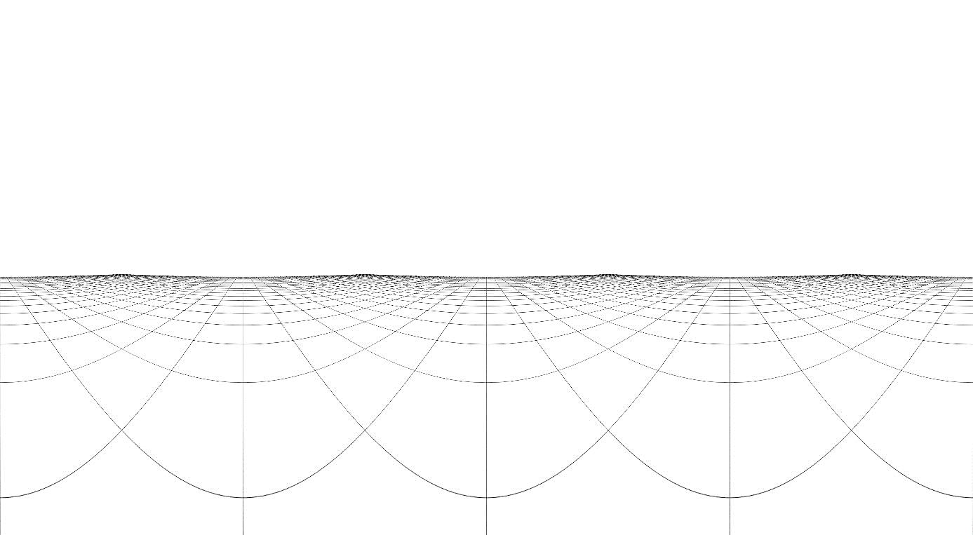 Grille de composition d'un panorama cylindrique. Ill. Lescop 2016